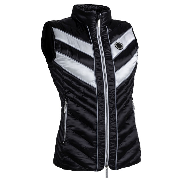 Equisafety Adults Azar Quilted Gilet (White/Black)