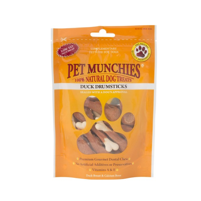 Pet Munchies Natural Dog Treats (Duck Drumsticks)