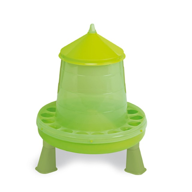 Gaun Plastic Poultry Feeder With Legs (Green)