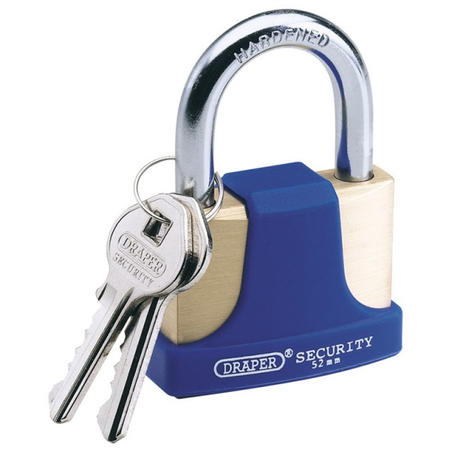 Draper 52mm Brass Padlock