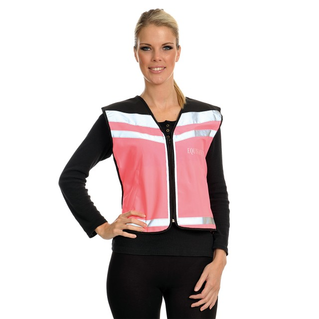 Equisafety Adults Air 'Please Pass Wide & Slow' Waistcoat (Pink)