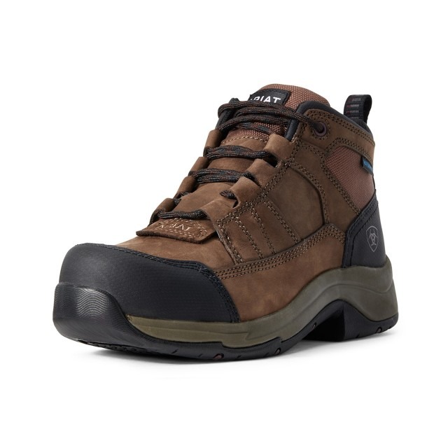 Ariat (Ex Display) Women's Telluride Work Waterproof CT Boots (Distressed Brown)