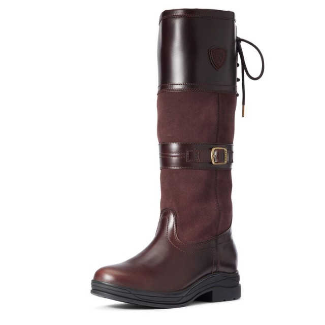 Ariat Women's Langdale Waterproof Country Boot (Waxed Chocolate)