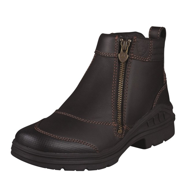 Ariat (Ex-Display) Women's Barnyard Side Zip Boots (Dark Brown) (Size 4)