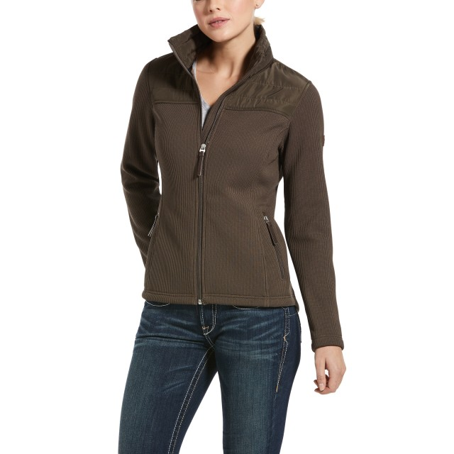 Ariat Women's Kalispell Full Zip Sweater (Banyan Bark)