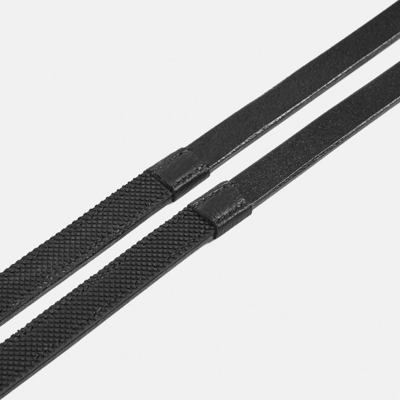 Albion Competition Half Rubber - Curb Reins