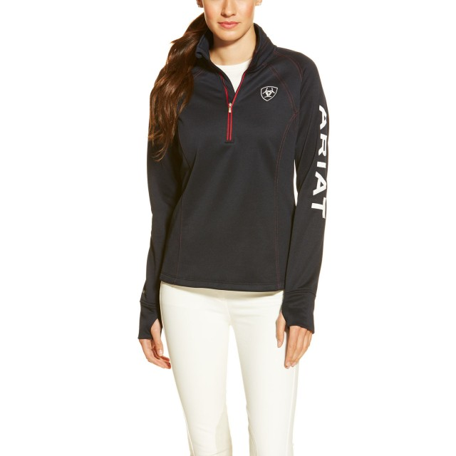 Ariat Women's Tek Team Quarter Zip (Navy)