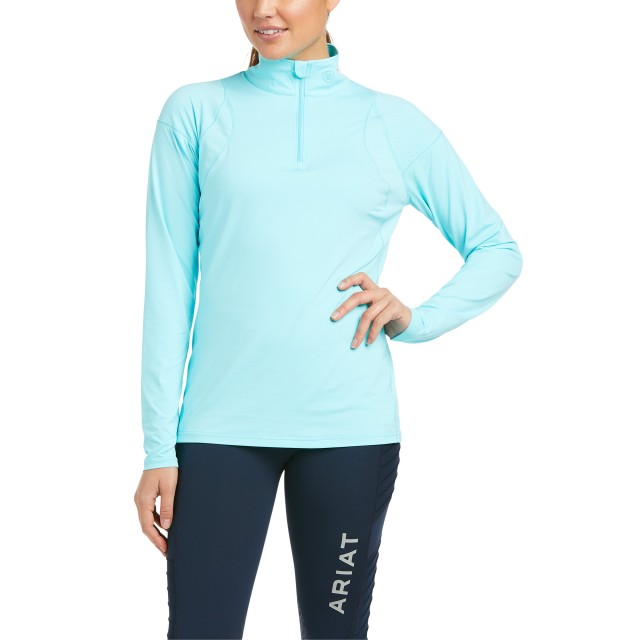 Ariat Women's Auburn 1/4 Zip Base Layer (Cool Blue)