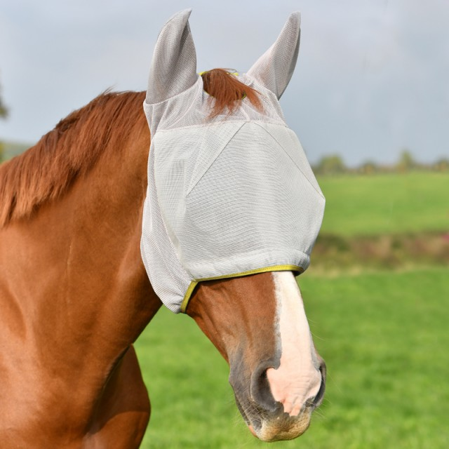 Equilibrium Field Relief Midi Fly Mask With Ears (Grey)