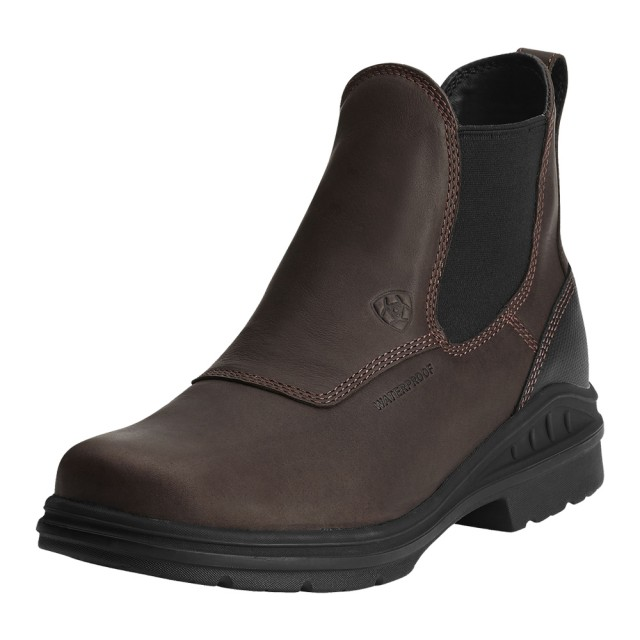 Ariat Men's Barnyard Twin Gore H2O Boots (Dark Brown)