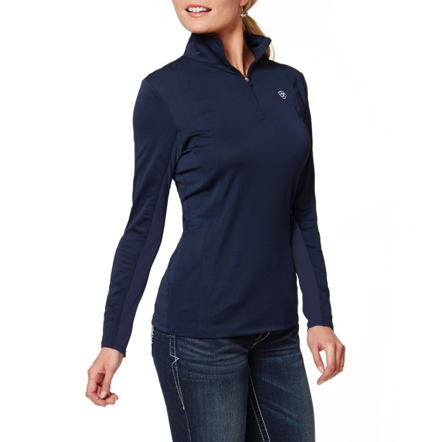 Ariat Women's Sunstopper Quarter Zip Top (Navy Eclipse)