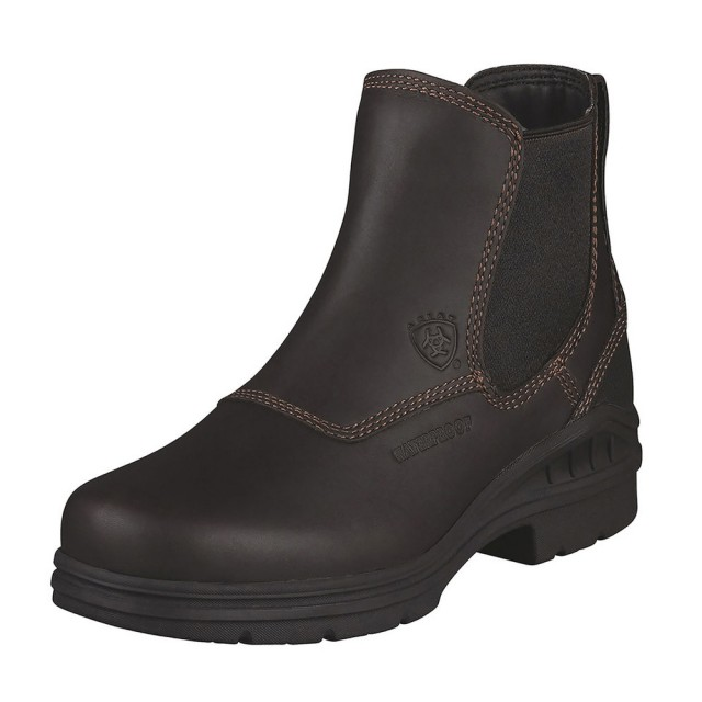 2019 real bright n colour world-wide selection of Ariat Women's Barnyard Twin Gore H2O Boots (Dark Brown)