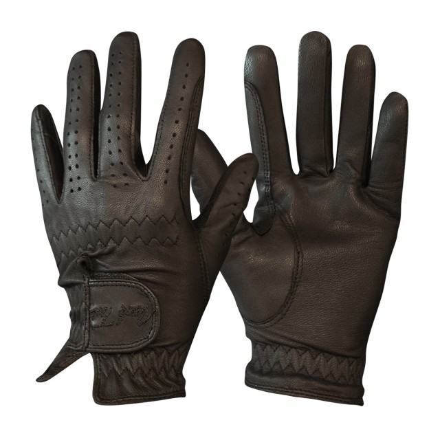 Mark Todd Adults Leather Riding/Show Gloves (Dark Brown)