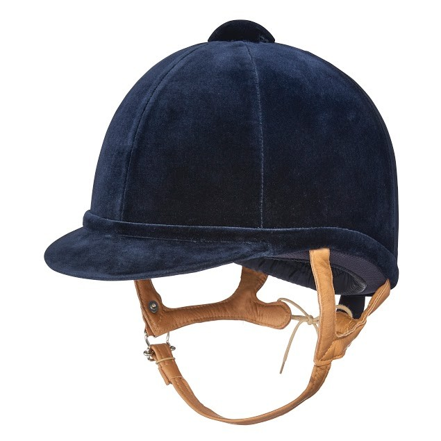 Charles Owen Fian Velvet Riding Hat (Navy)