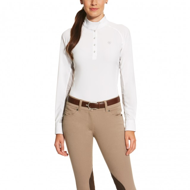 Ariat (Sample) Women's Aero Show Shirt (White/Silver Grey)