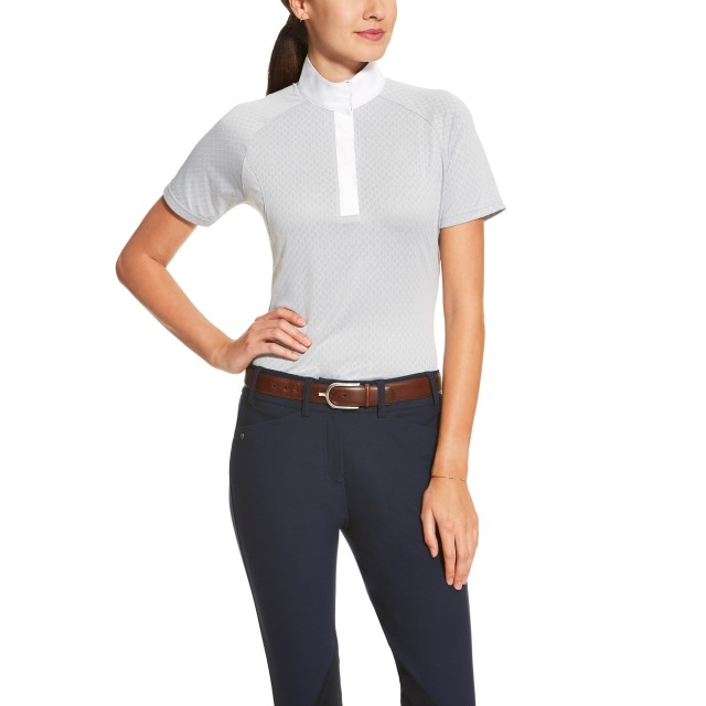 Ariat Women's Hex Showstopper Top (Silver Grey Liberty)