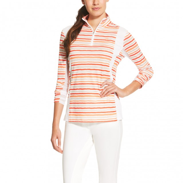 Ariat (Sample) Women's Sunstopper Quarter Zip (Brushstroke Stripe)