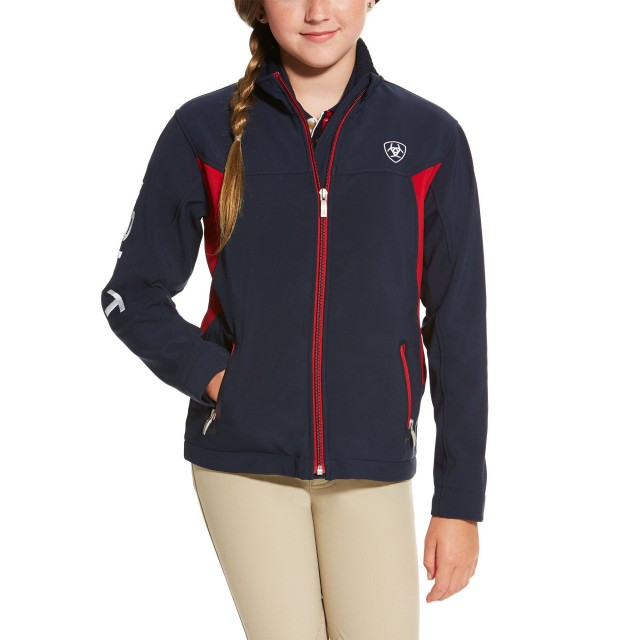 Ariat Youth New Team Softshell Jacket (Navy)