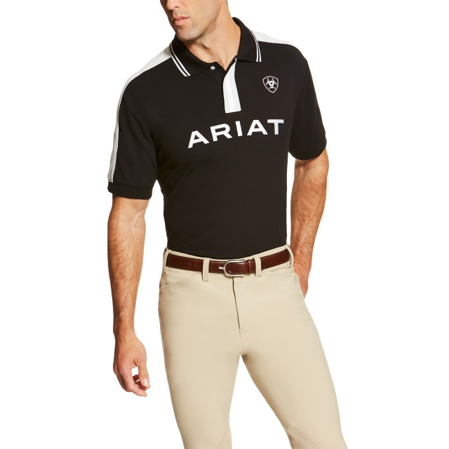 Ariat Men's New Team Polo (Black)