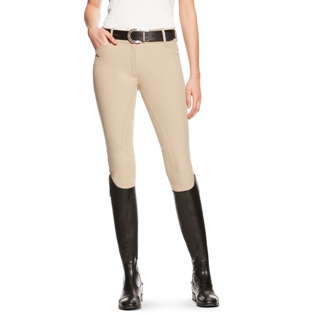 Ariat Women's Heritage Elite Breeches, Regular Rise, Full Seat  (Tan)