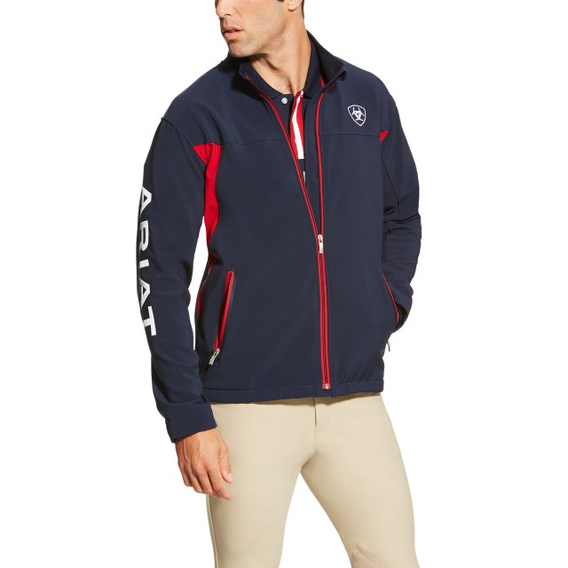 Ariat Men's New Team Softshell Jacket (Navy)
