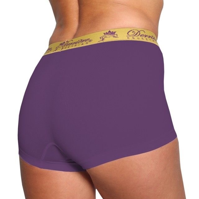 Derriere Equestrian Women's Performance Seamless Shorty (Purple)