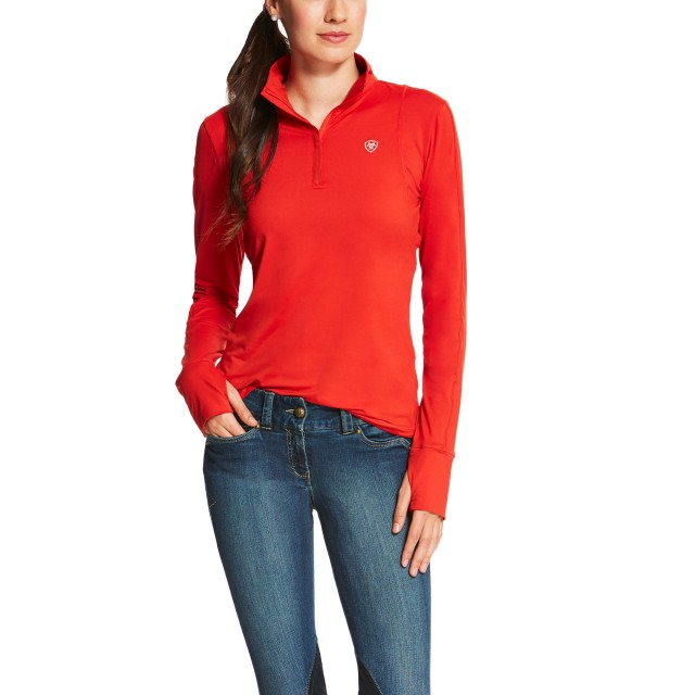 Ariat (Sample) Women's Lowell Quarter Zip (Molten Lava)