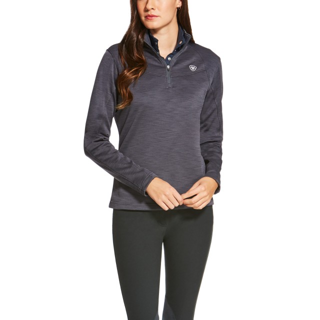 Ariat Women's Conquest Quarter Zip (Ebony)
