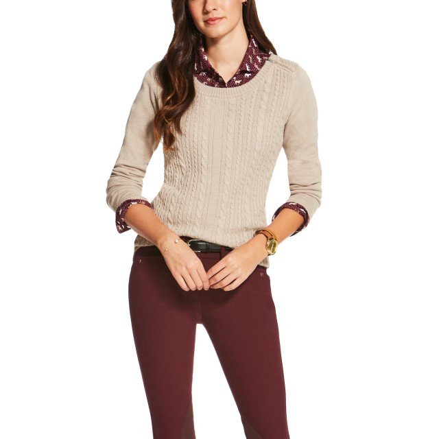 Ariat (Sample) Women's Supimo Cable Knit (Oatmeal)