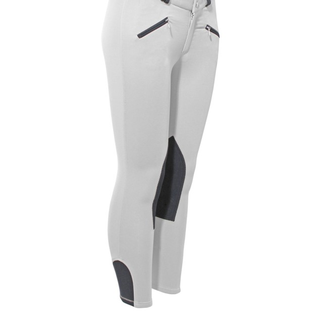 Mark Todd Kid's Euro Seat Breeches (White & Grey)