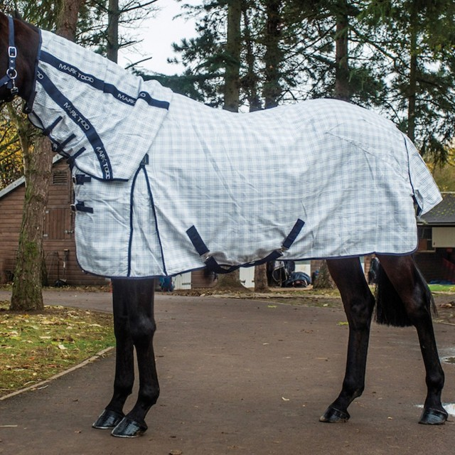 Mark Todd Comprehensive Combo Rug (White & Navy Gingham)