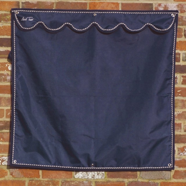 Mark Todd Small Window Drape (Navy & Silver)