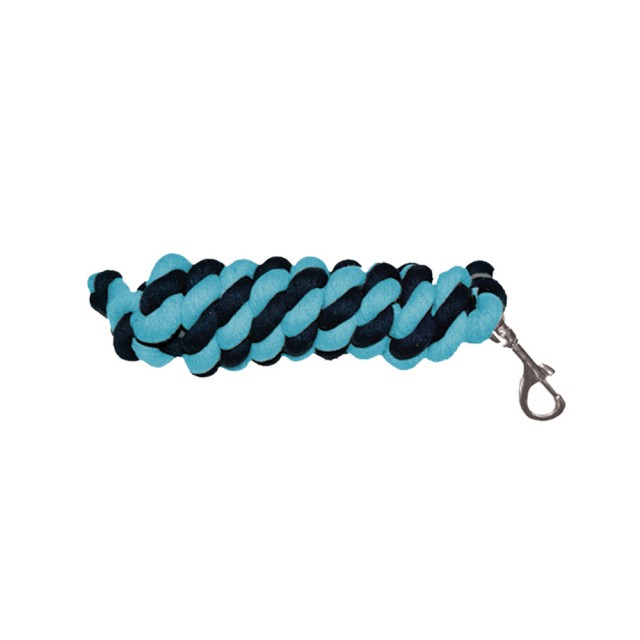 Mark Todd Cotton Lead Rope (Navy & Aqua)