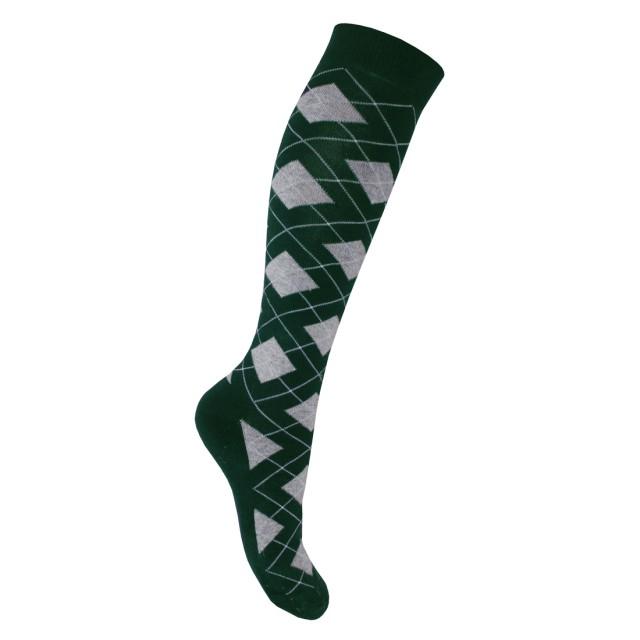 8c379d9c51683 Mark Todd Women's Argyle & Stripe Long Socks Green & Grey - Wychanger Barton