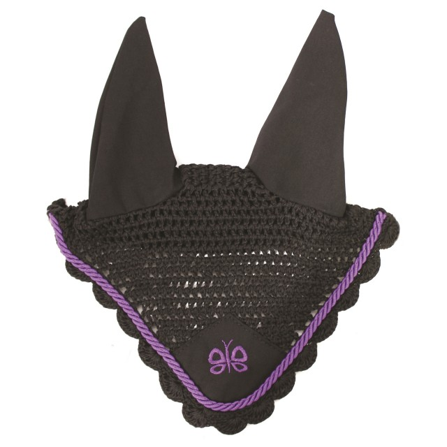 JHL Butterfly Fly Veil (Black & Purple)