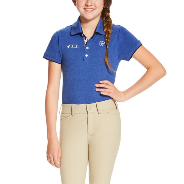 Ariat Kid's FEI Polo (Mazarine Blue Heather)