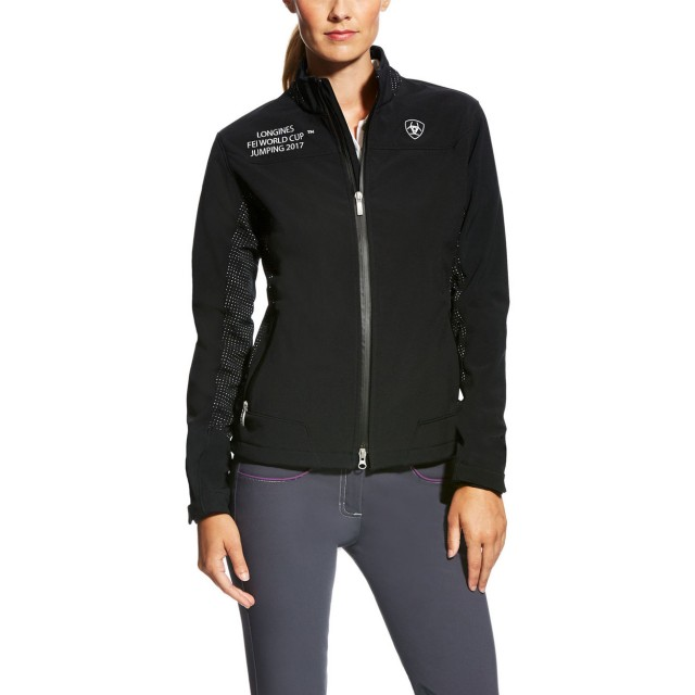 Ariat Women's FEI World Cup 2017-2018 Bodymap Softshell Jacket (Black)