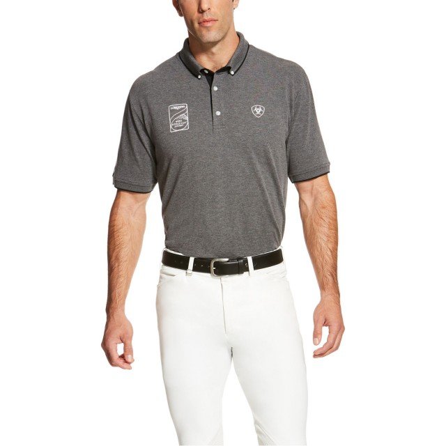 Ariat Men's FEI World Cup Polo (Heather Grey)
