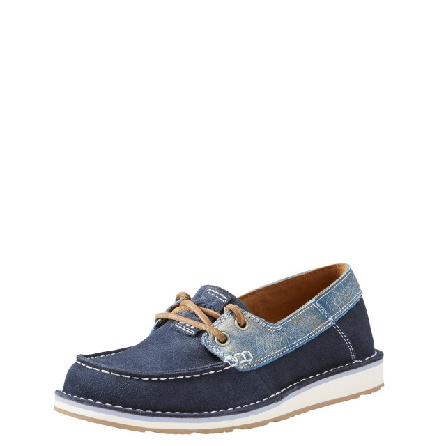 Ariat Women's Cruiser Castaway Shoe (Navy-Ice Blue)