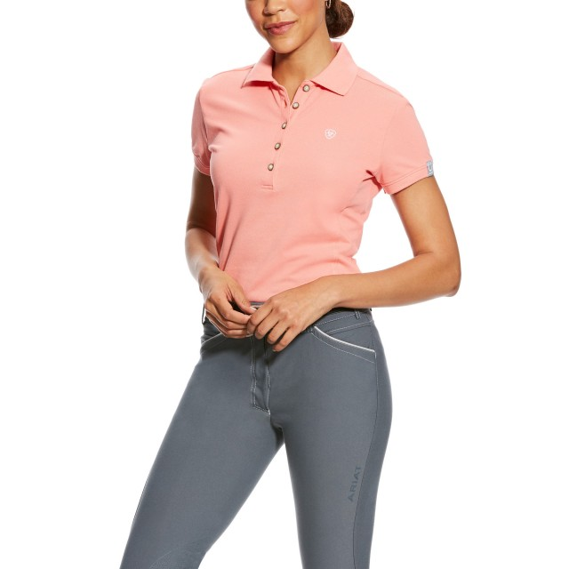 Ariat (Sample) Women's Prix Polo (Peach Twig)