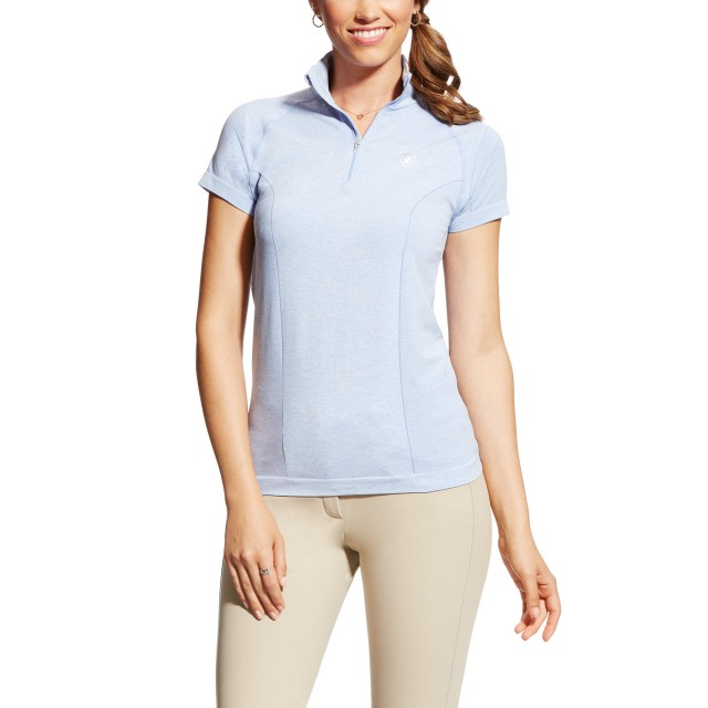 Ariat Women's Odyssey Seamless Quarter Zip (Chambray Blue)