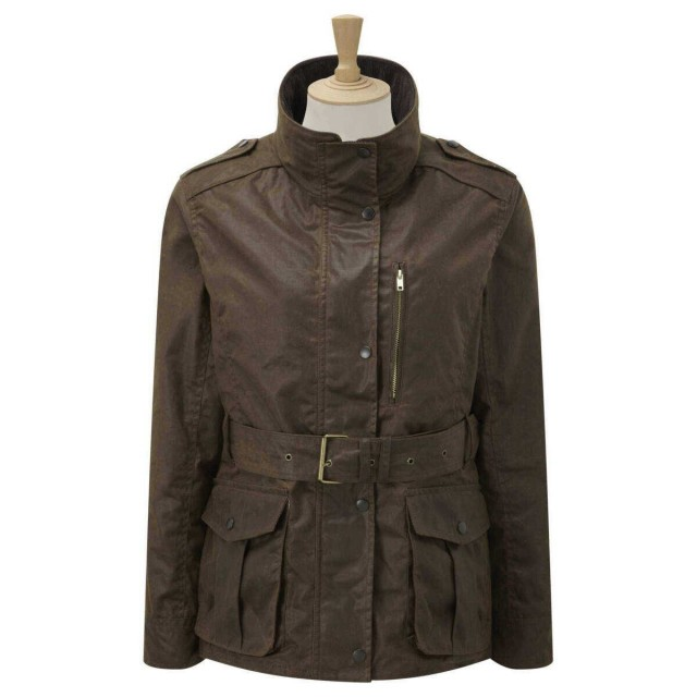 Caldene Figsbury Belted Wax Jacket (Brown)