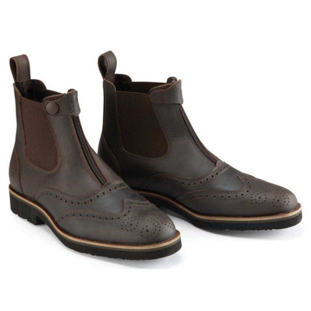 Caldene Bridestone Oxford Waxed Leather Boots (Brown)