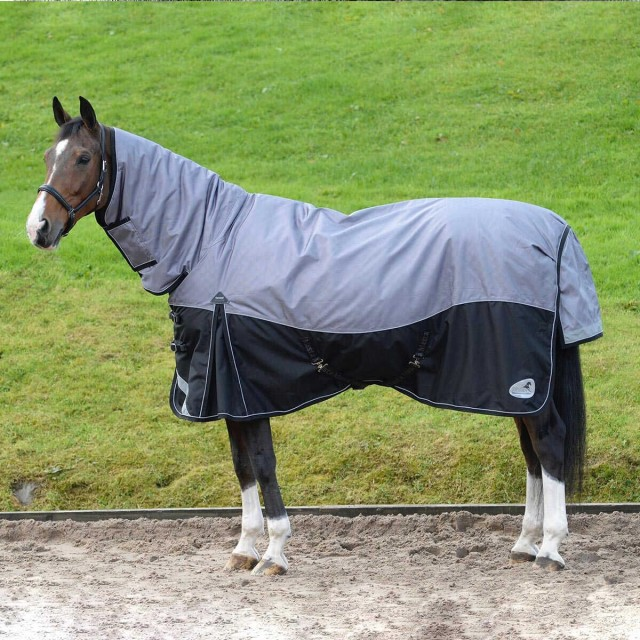 Masta Turnoutmasta 350g Fixed Neck Turnout Rug (Black/Grey)