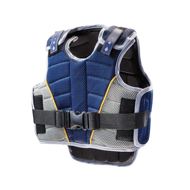 Harry Hall Childs Zeus Team Body Protector (Navy/Pale Blue)