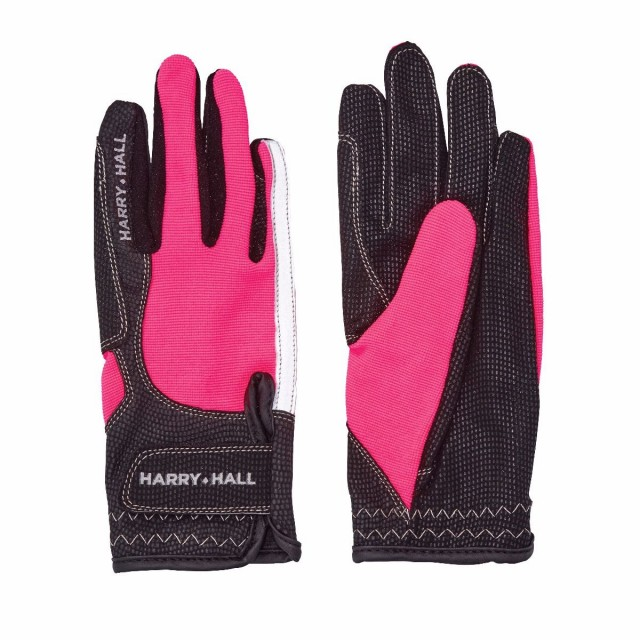 Harry Hall Lockton Riding Gloves (Pink)