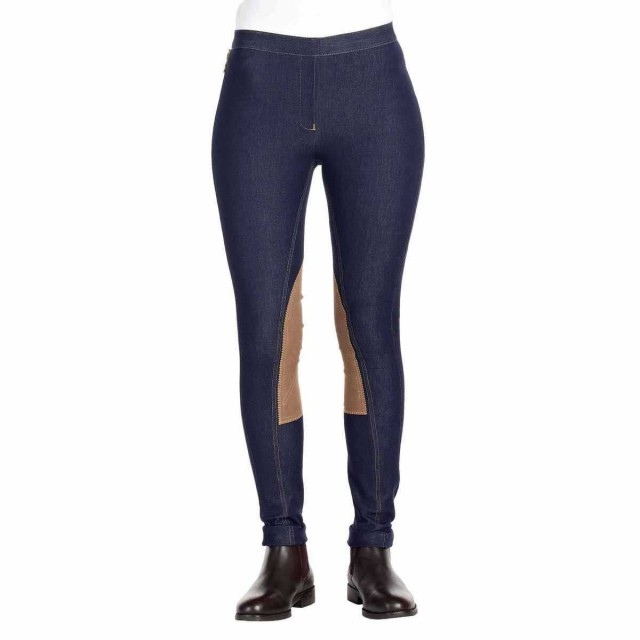 Harry Hall Women's Vintage Pull on Jodhpurs (Navy)