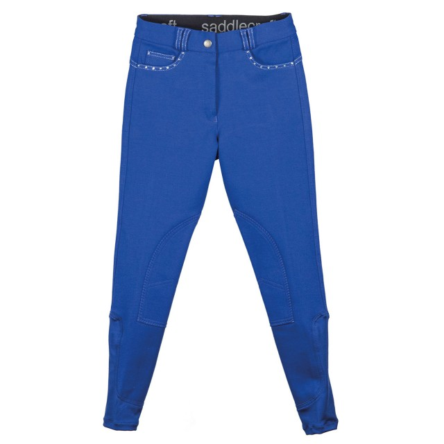 Saddlecraft Child Sparkly Contrast Breeches (Royal)