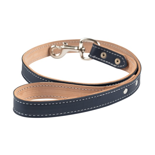 Ralph & Co Napoli Leather Dog Lead (Midnight Blue)