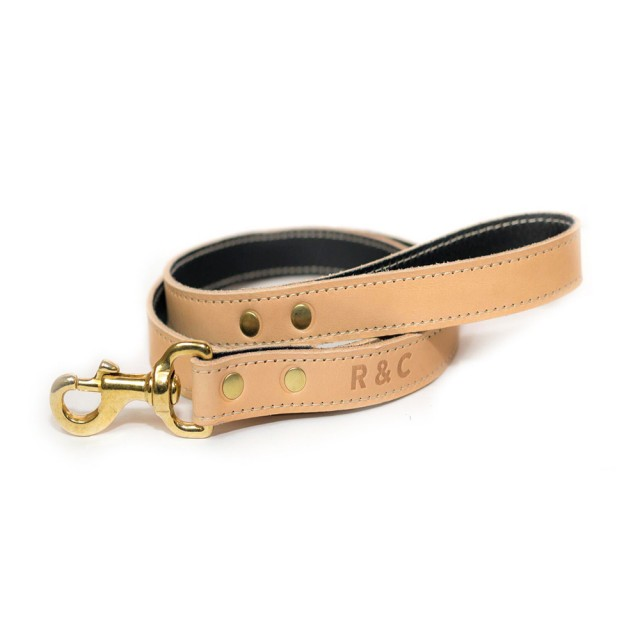Ralph & Co Verona Leather Dog Lead (Oyster)